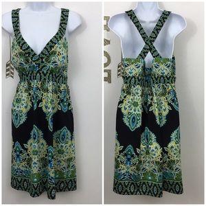 INC INTERNATIONAL CONCEPTS CRISSCROSS BACK DRESS